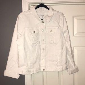 White Tall Denim Jacket
